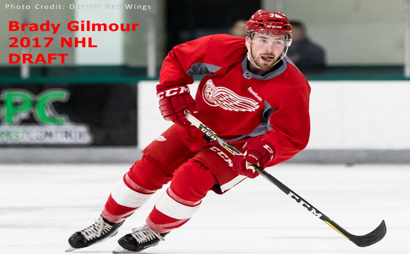 Brady Gilmour 2017 NHL Draft on Ice Red Wings