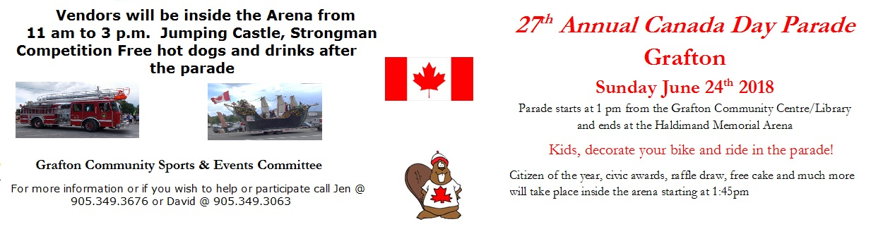 Canada Celebrations and Parade June 24 Grafton