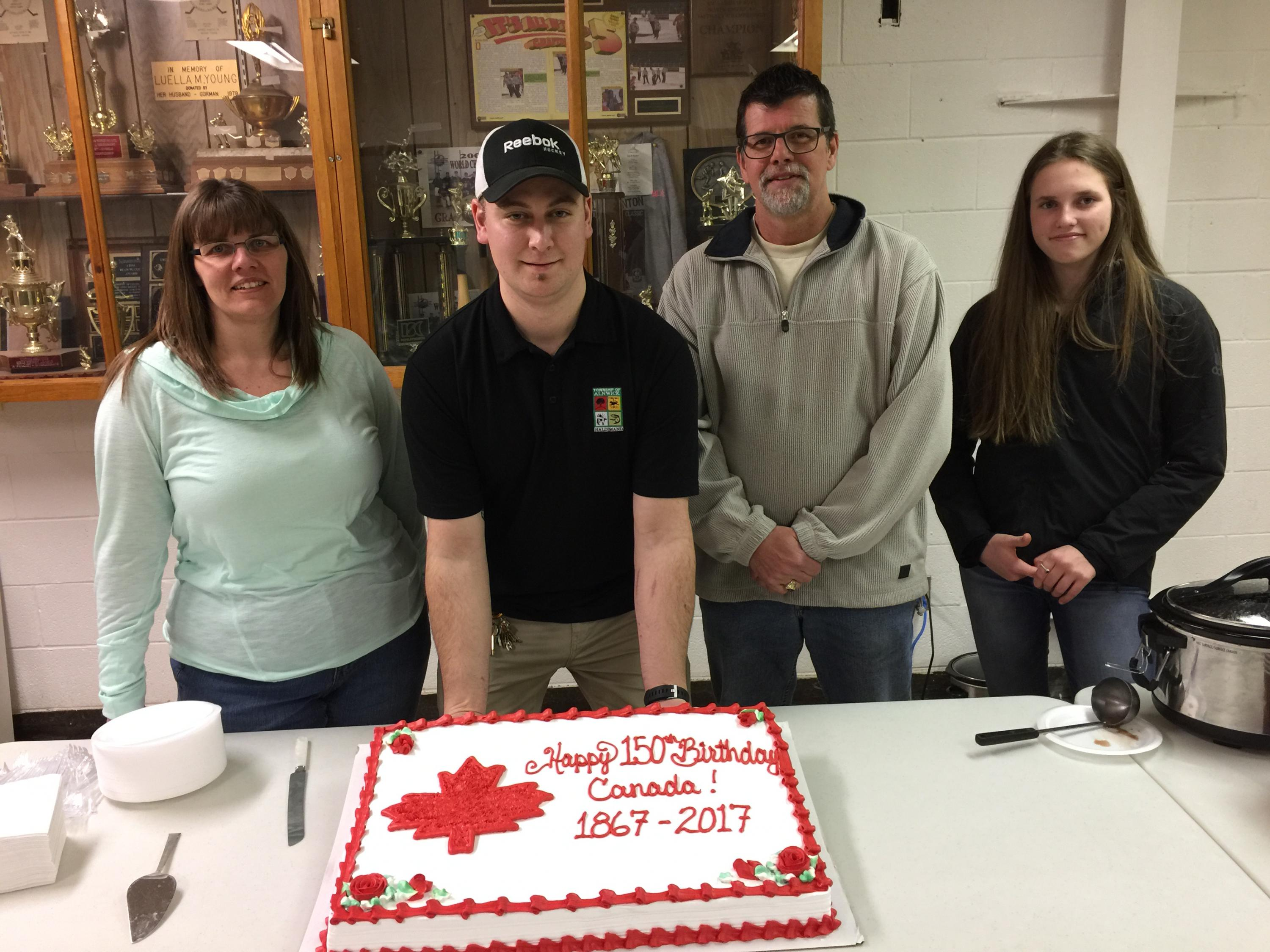 Family Day Free Skate and Canada 150 Birthday Cake