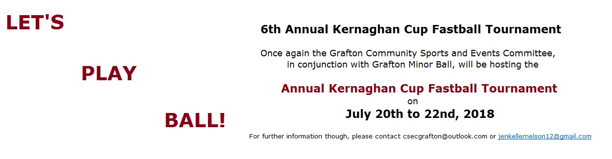 Kernaghan Cup Fastball Tournament july 20 to 22