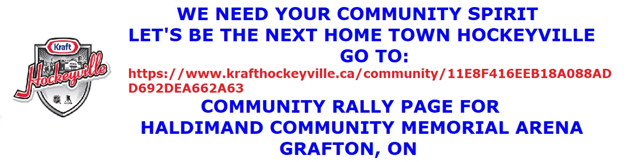 Kraft Hockeyville 2019 Entry and Rally page
