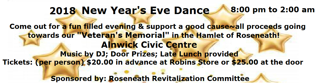 New Year's Eve Dance Alnwick Civic Centre 2018