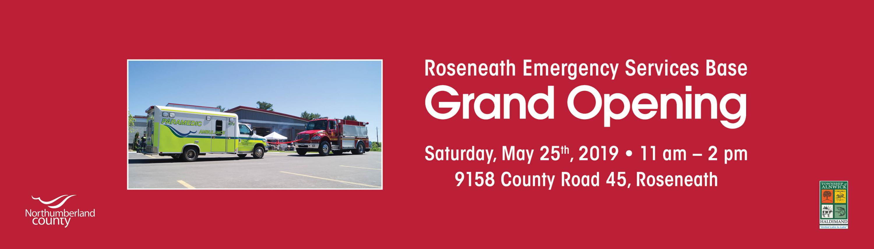 Roseneath Emergency Services Base Grand Opening Ceremonies