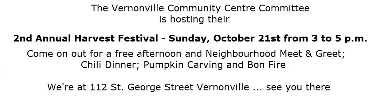 Harvest Festival Vernonville Oct 21 3 to 5
