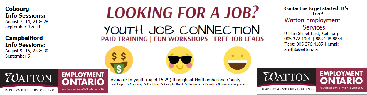Youth Job Connection - Watton Employment Services